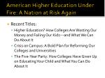 american higher education under fire a nation at risk again