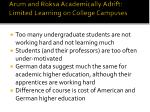 arum and roksa academically adrift limited learning on college campuses