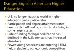 danger signs in american higher education