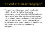 the start of stereolithopgraphy