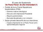 el caso de guatemala un pacto fiscal de alta intensidad 11