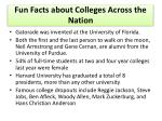 fun facts about colleges across the nation