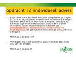 opdracht 12 individueel advies