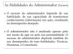 as habilidades do administrador gestor