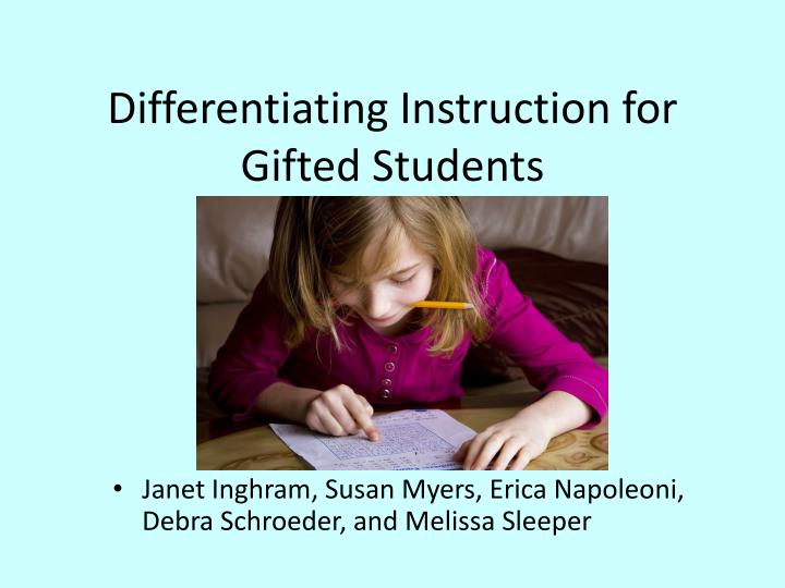 Ppt Differentiating Instruction For Gifted Students Powerpoint