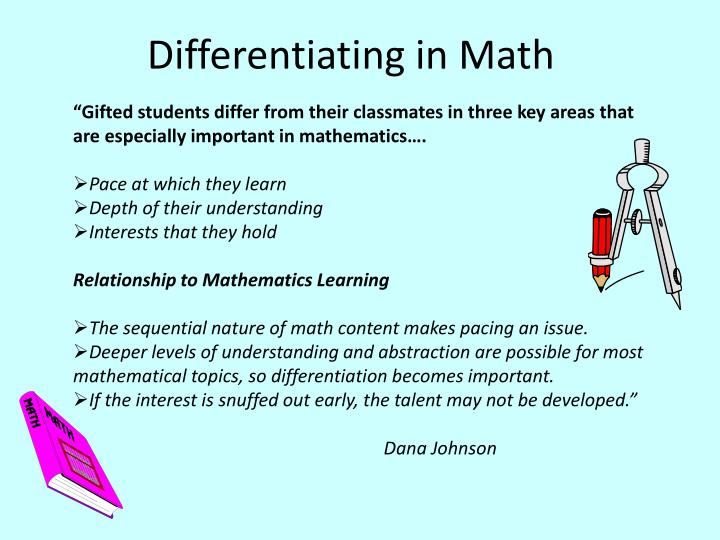Differentiation of Instruction Hoagies Gifted