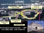 j parc japan proton accelerator research complex