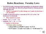 redox reactions faraday laws