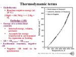 thermodynamic terms1