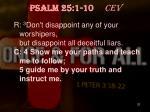 psalm 25 1 10 cev1