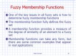 fuzzy membership functions