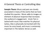 a general thesis or controlling idea