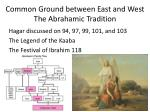 common ground between east and west the abrahamic tradition