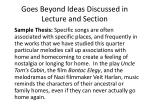 goes beyond ideas discussed in lecture and section