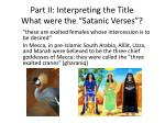 part ii interpreting the title what were the satanic verses