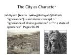 the city as character