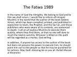 the fatwa 1989