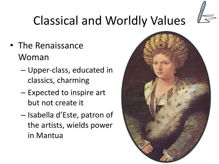 classical and worldly values n.