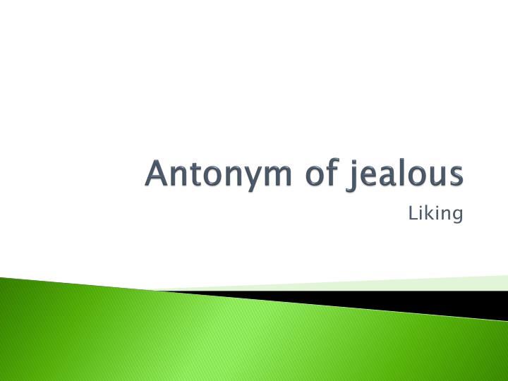 Antonym of