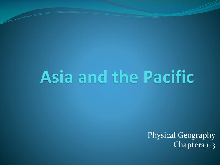 asia and the pacific n.