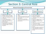 section 3 central asia