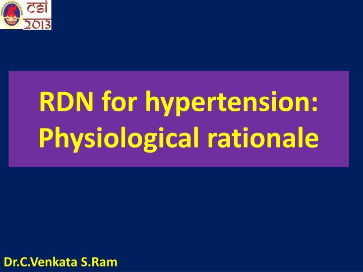 rdn for hypertension physiological rationale n.