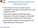sympathetic nervous system and adrenergic excess