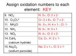 assign oxidation numbers to each element key1