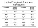 lattice energies of some ionic compounds