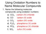 using oxidation numbers to name molecular compounds1
