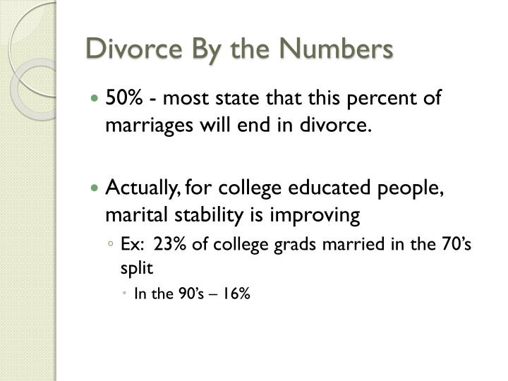 divorce by the numbers n.