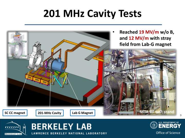 201 MHz Cavity Tests