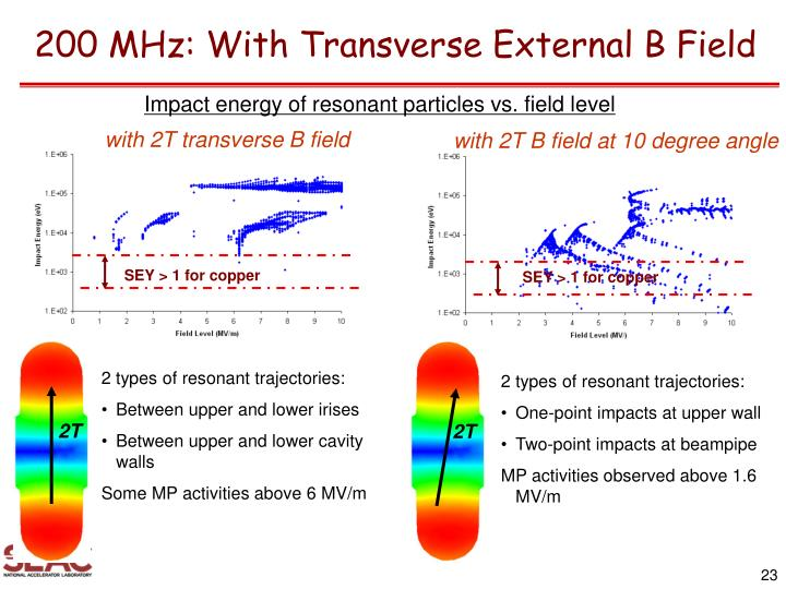 200 MHz: With Transverse External B Field