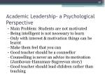 academic leadership a psychological perspective1
