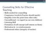 counselling skills for effective teaching1