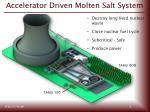 accelerator driven molten salt system