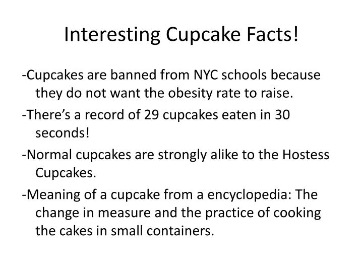 interesting c upcake f acts n.