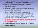 university entrance requirements1