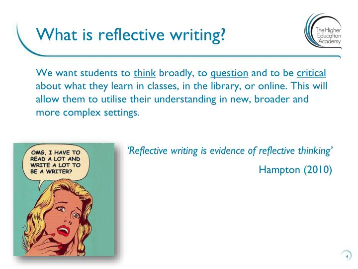 a look into marks theology reflected in writing Reflective writing can be presented in various formats, but you'll most often see it in a learning log here's a very useful tip: although you may feel well prepared with all that time spent reflecting in your if you want some inspiration for writing, take a look at our example of a short reflective essay.