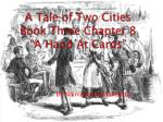 a tale of two cities book three chapter 8 a hand at cards