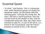 essential quote