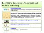 business to consumer e commerce and internet marketing