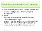 business to employee electronic commerce