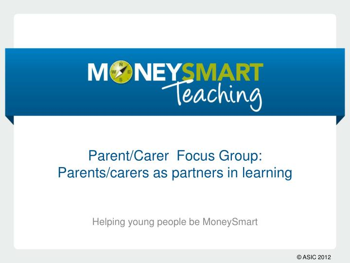 parent carer focus group parents carers as partners in learning n.