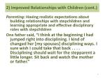 2 improved relationships with children cont