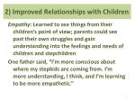 2 improved relationships with children