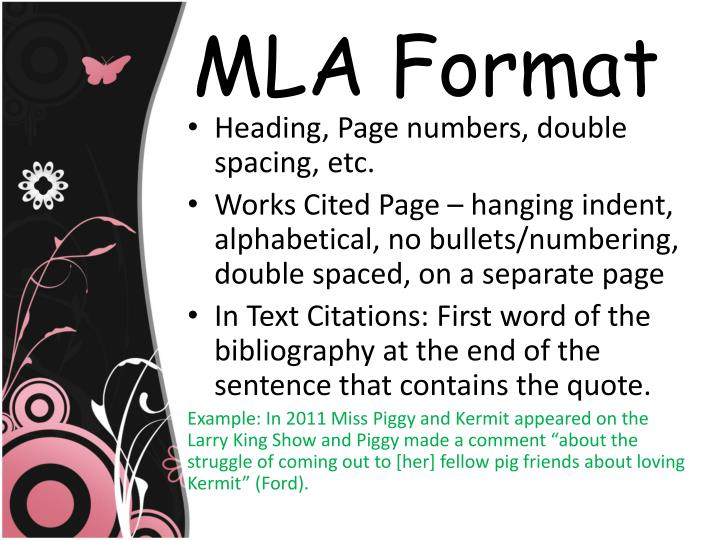 mla format for essays 2011 Mla citation format and style guide mla (modern language association) is one of the several standard formatting styles that are recommended for academic work.