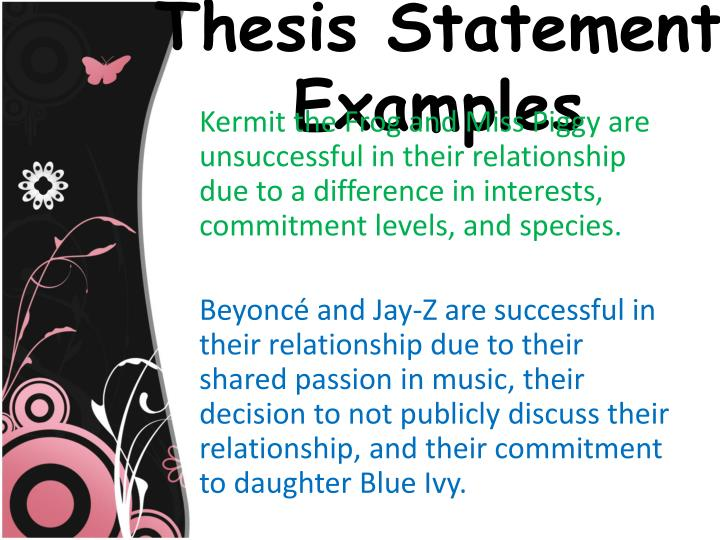 thesis statement on relationships
