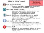 about slide icons