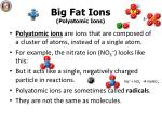 big fat ions polyatomic ions